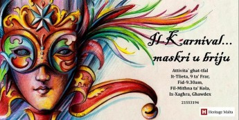 Gozo event for children - History of Carnival and Mask Making