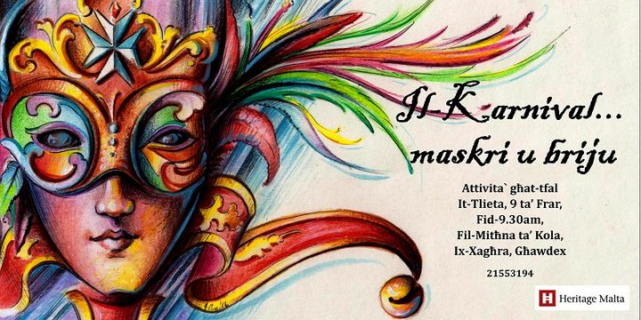 History of Carnival and Mask Making: Gozo event for children