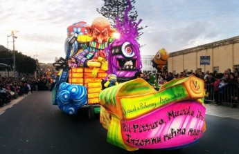 `Minions' themed Carnival Float produced by students of Gozo VPA