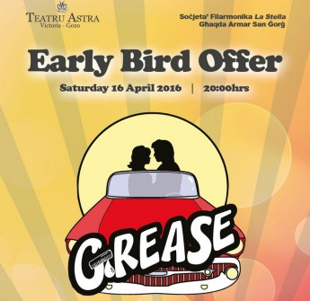 Early Bird seat price offer in February for`Grease' at the Astra