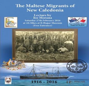 Maltese Migrants of New Caledonia: Gozo lecture by Joe Morana
