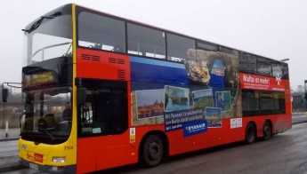 Gozo and Malta holiday destinations advertised on German buses