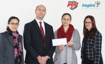 MaltaPost donates proceeds of letters from Santa Claus to Inspire
