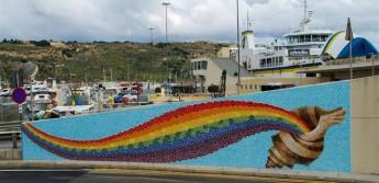 Qawsalla Fjuri: Glass & ceramic mural inaugurated in Mgarr, Gozo