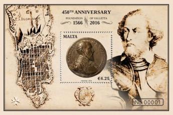 MaltaPost commemorates 450th anniversary of foundation of Valletta