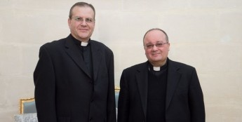 Archbishop Scicluna meets with Bishop George Bugeja O.F.M.