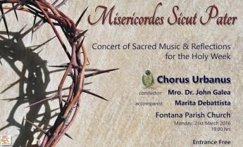 Misericordes Sicut Pater: Chorus Urbanus Concert of Sacred Music