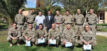 ERRC training course for Armed Forces of Malta EOD personnel
