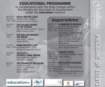 Gaulitana Educational Programme gets underway on Monday