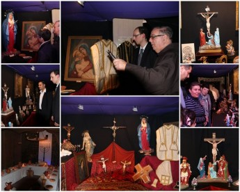 Exhibition of the Passion taking place in Ghajnsielem for Holy Week