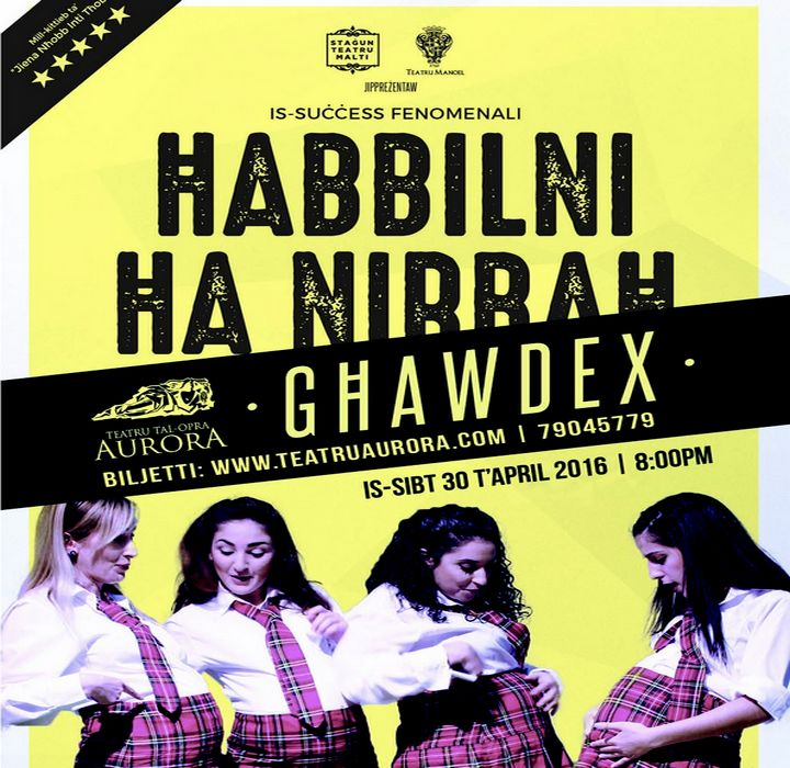 Comedy/satire Habbilni ha nirbah at Gozo's Aurora Opera House