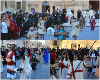 Junior Good Friday procession on Palm Sunday held in Xaghra