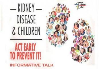 Gozo public talk: Kidney Disease & Children. Act Early to Prevent It!