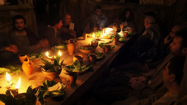 The Last Supper live reenactment at Ta' Passi fields Ghajnsielem