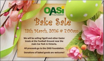 OASI Foundation Easter Bake Sale at Sunday's Charity Fair in Victoria