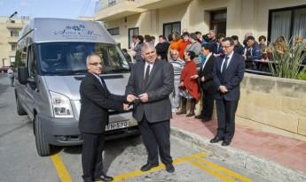 New tail-lift van presented to the Santa Marta Day Centre, Gozo
