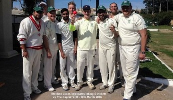 Bowler's day at Marsa Cricket Oval: Captain's XI vs. Chairman's XI