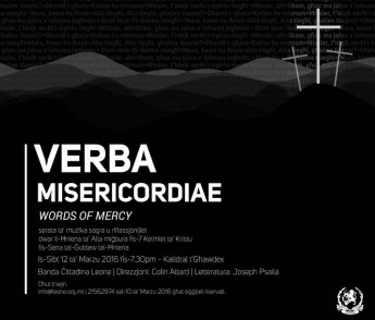Verba Misericordiae: words of Mercy – music & reflections for Holy Week