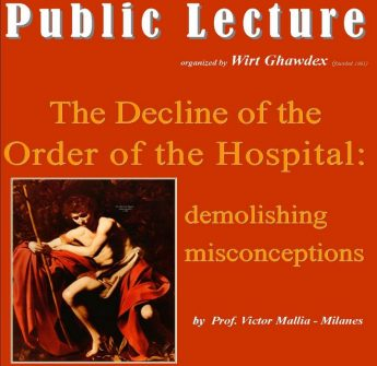The Decline of the Order of the Hospital: Wirt Ghawdex public lecture