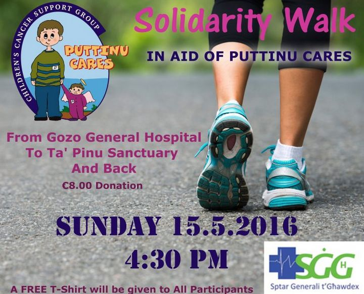 Gozo General Hospital Fun Walk next Sunday in aid of Puttinu Cares