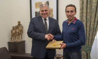 Minister for Gozo meets Gozitan athlete Charlton Debono