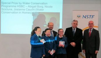 Gozo team wins special prize at HSBC Water Programme NSTF Science Expo