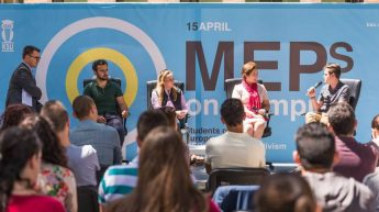 MEPs and Students debate held on the University Campus