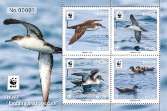 MaltaPost `Endangered Species' stamp issue for World Wildlife Fund