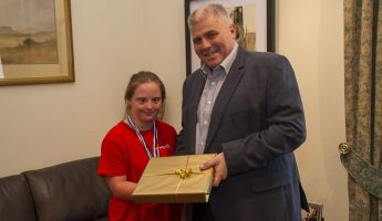 Gozo Minister meets Special Olympics medal winner Maria Pia Saliba