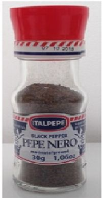 Italpepe ground black pepper warning for possible Salmonella saphra