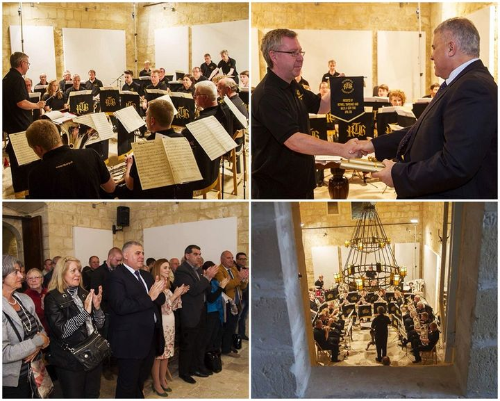 Rothwell Temperance Band perform Gozo concert at the Cittadella