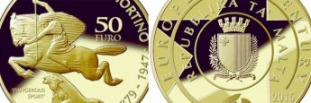 Coins to celebrate art by Antonio Sciortino by Central Bank of Malta