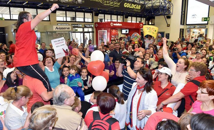Special Olympics team given rapturous welcome on return from Cyprus