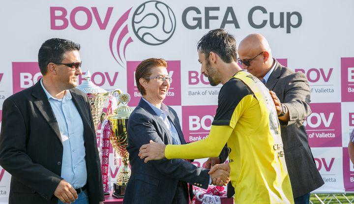 Xewkija Tigers win the BOV GFA Cup beating Ghajnsielem 2-0