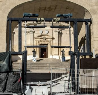 Work expected to be completed soon on door to Cathedral square