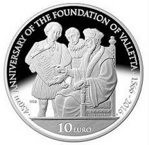 Coin to mark 450th anniversary of the foundation of Valletta