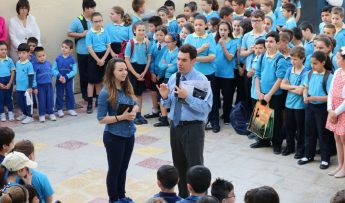 Federica Falzon visits pupils & staff at Gozo College Victoria Primary
