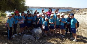 Qala primary students in Hondoq clean-up and `adventure hunt'