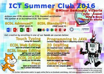 Minor Seminary ICT Summer Club 2016 gets underway in July