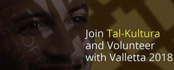 Tal-Kultura, Valletta 2018 volunteer programme: Applications open