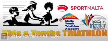 Gozo youngster competing in Kids & Youths Triathlon in Malta