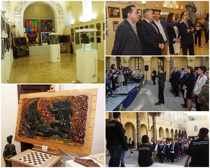 Gozo Visual & Performing Arts School Exhibition official opening