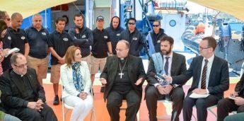 Archbishop celebrates World Communications Day on the `Pheonix'
