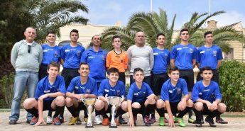 Xaghra United celebrations after winning 2nd Division Championship