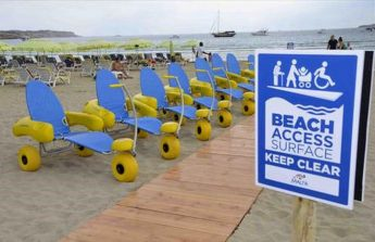 Beach wheelchairs help provide access for people with mobility problems