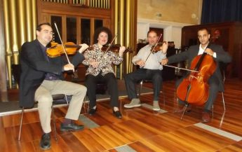 JP2 Foundation concert with the Caravaggio Quartet at Ghasri