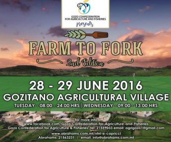 Farm to Fork: 2nd Edition at the Gozitano Agricultural Village, Xewkija