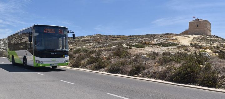 More frequent buses on three Gozo routes for the summer