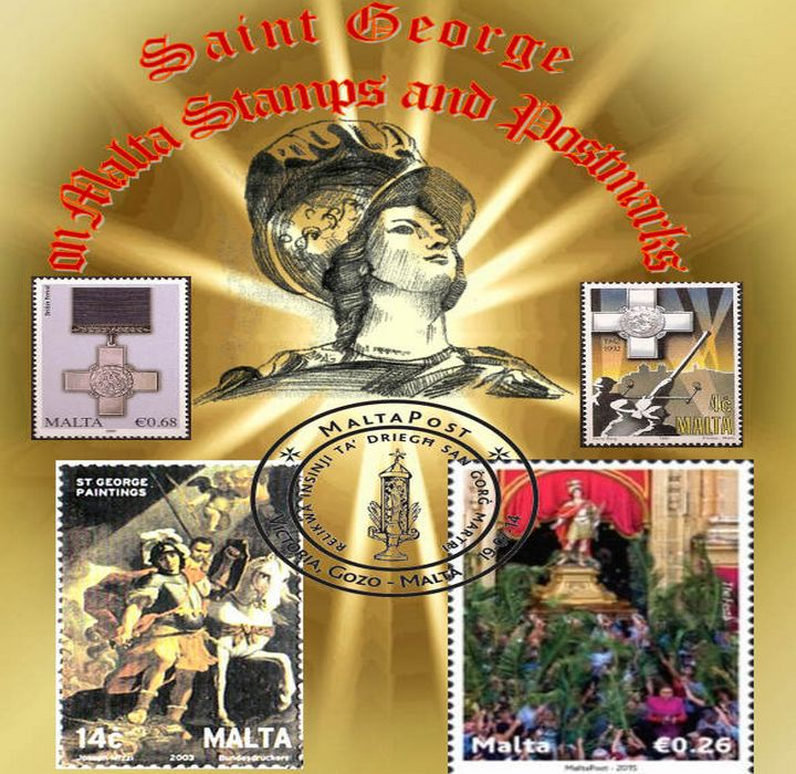 Gozo Philatelic Society exhibition of St George Stamps