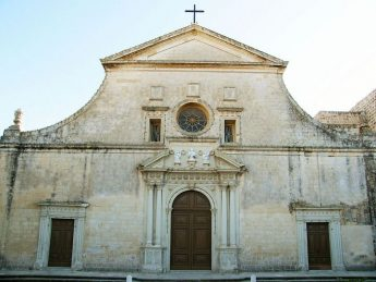 Façade to be restored of Church dedicated to St. Mark in Rabat